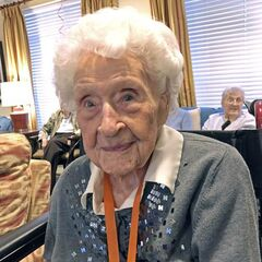 Thelma Sutcliffe at the age of 112