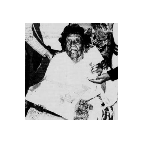 Anna Buchanan on her 106th birthday.