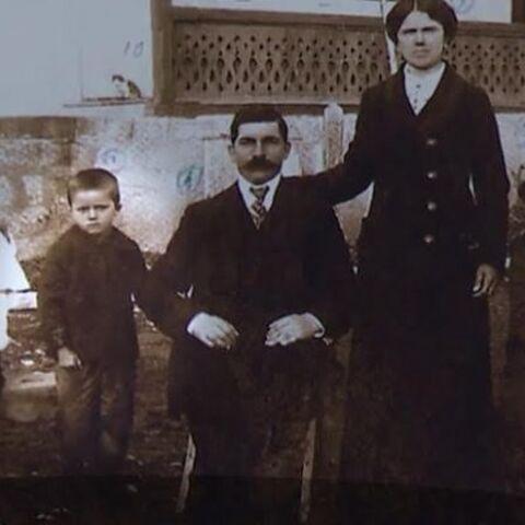 Comanescu as a young boy