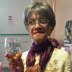 Irene Sinclair on her 108th birthday