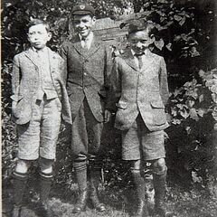 Bob Weighton (left) at age 13.