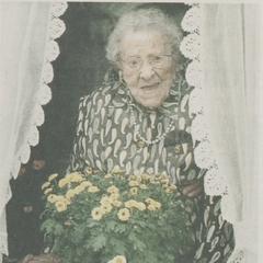 Catharina van Dam-Groeneveld at age 110.