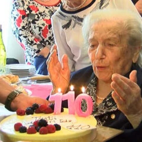 Ida Zoccarato on her 110th birthday.