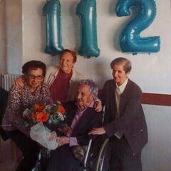 Branyas Morera on her 112th birthday