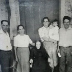 Albano and Alberto with their mother