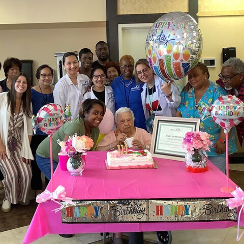 Emilia Alvarez celebrating her 111th birthday.