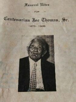 Joe Thomas 1875-1986