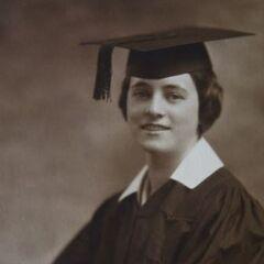 Adele Dunlap after graduation, aged 18.
