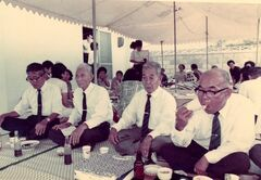 Gengan Tonaki (1884-1997) 2nd on the right Sept 1973 aged 88
