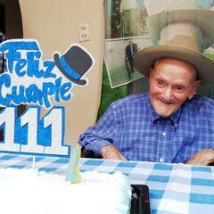 Juan Vicente Perez Mora on his 111th birthday.