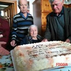 Maria Giuseppa Robucci on her 113th birthday.