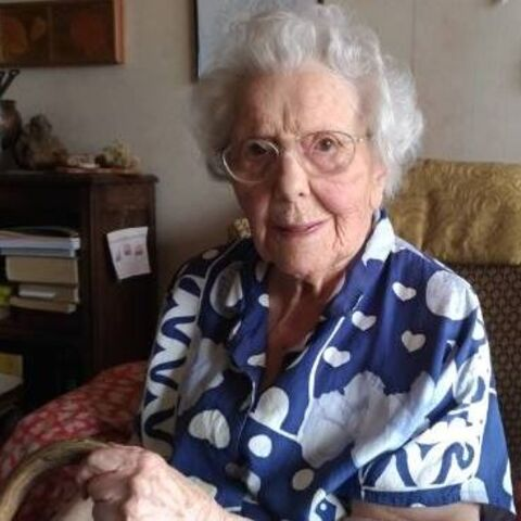Madeleine Chat on her 112th birthday.
