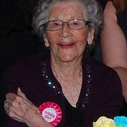 Ellen Gibb on her 112th birthday
