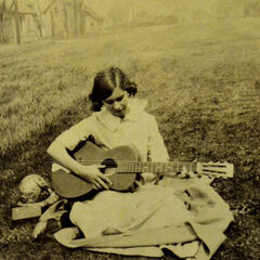 Elsie Martin at age 14 on the farm where her father worked.