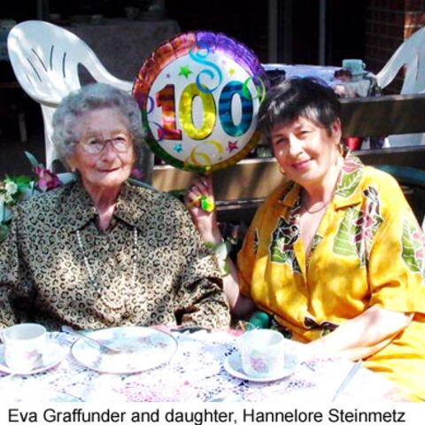 Eva Grafunder at age 100.