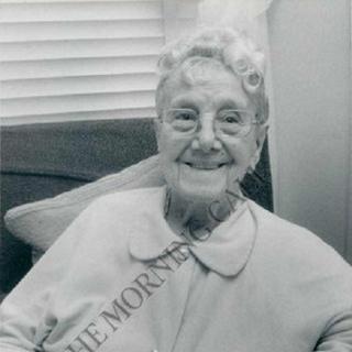 Sarah Knauss at age 106.