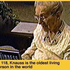Sarah Knauss on her 118th birthday.