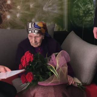 Antonina Partyka on her 110th birthday.