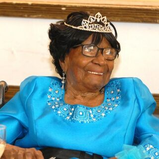 Murphy on her 110th birthday.