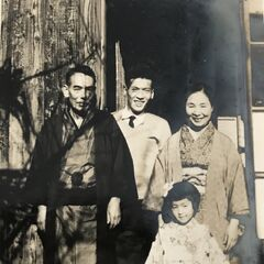 Nakachi in 1960 (at age 54). New Year's Day photo.