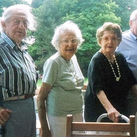 From left to right: Peter Keane, Lee Reichert, Helen Reichert and Irving Kahn in 2003