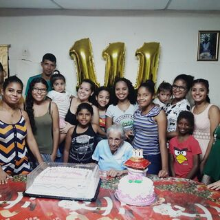 Paredes on her 111th birthday.