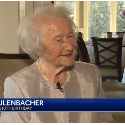 Maria Aulenbacher at age 110.
