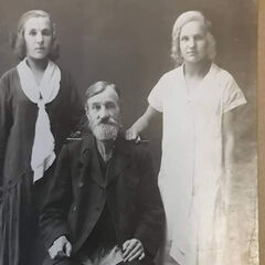 Gadyuchkina (right), with her sister and father(?).