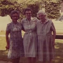 Kabance (left) in 1972