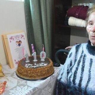 Evangelista Luisa Lopez on her 110th birthday