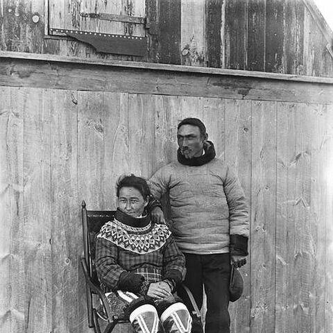 Malene with husband, Henrik Lund in 1911.