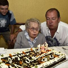 Marie-Louise Taterode celebrating her 111th birthday.