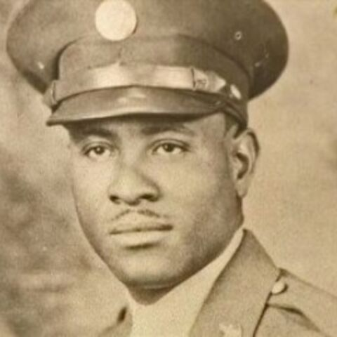 Richard Overton during his military service in World War II.