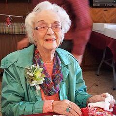 Edie Ceccarelli on 109th birthday.