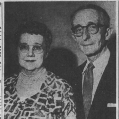 Sarah and Abraham Lincoln Knauss in their 70s.