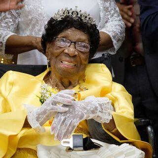 Alelia Murphy celebrating her 114th birthday.