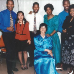 Irene Sinclair with her family (undated photo)