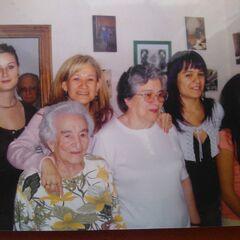 Benegas on her 100th birthday.