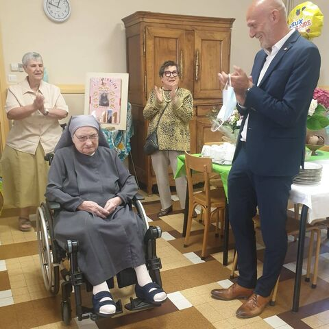 Zoe Redoules on her 111th birthday.