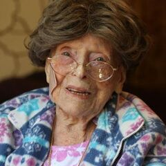 Adele Dunlap aged 113, after becoming the oldest person in the USA.