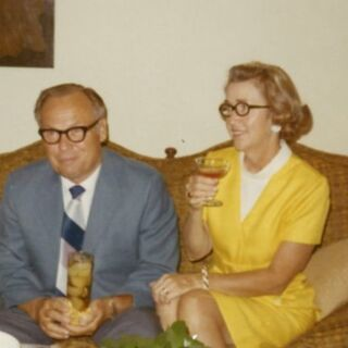 John and Charlotte Henderson, July 1970.