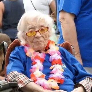 Geertje Kuijntjes at the age of 110.