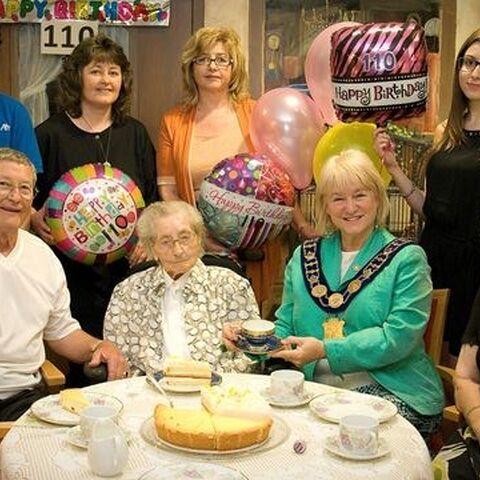 Eva Grafunder on her 110th birthday.