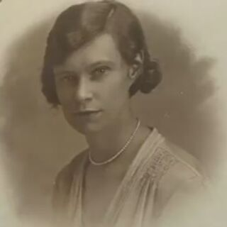 Joan Hocquard in her youth