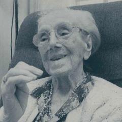 Sarah Knauss at age 116.