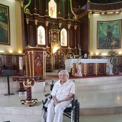 Cedeno Tello on 17 March 2019 while visiting the church where she got married and was baptized.