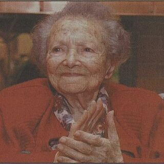Rein on her 109th birthday.