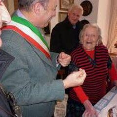 Emma Morano on her 111th birthday.