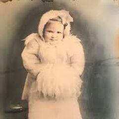 Iris Westman as at age 3.