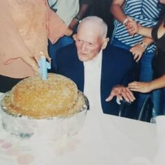 Perez Mora on his 102nd birthday.